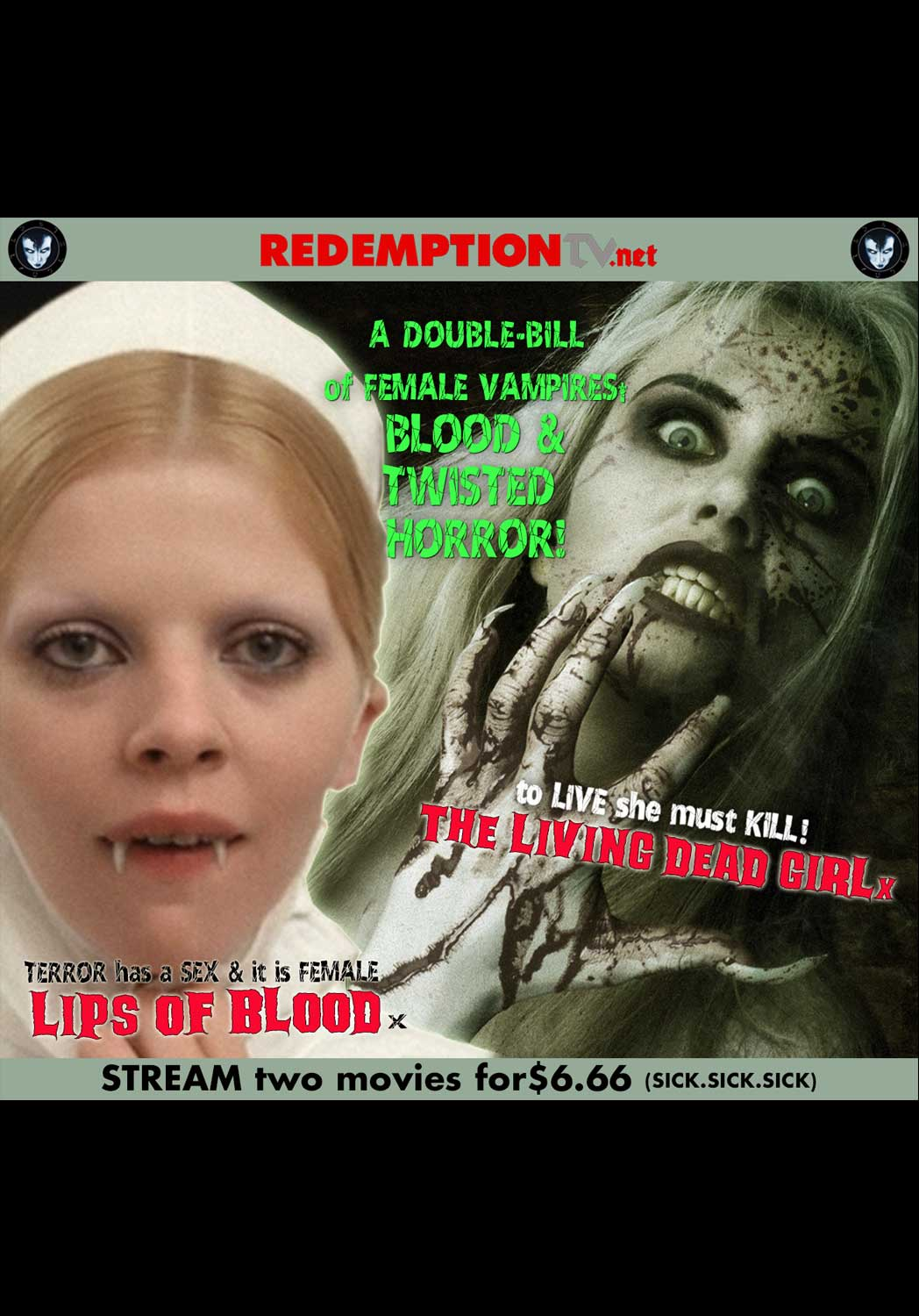 Jean Rollin Double Feature - Lips Of Blood and The Living Dead Girl