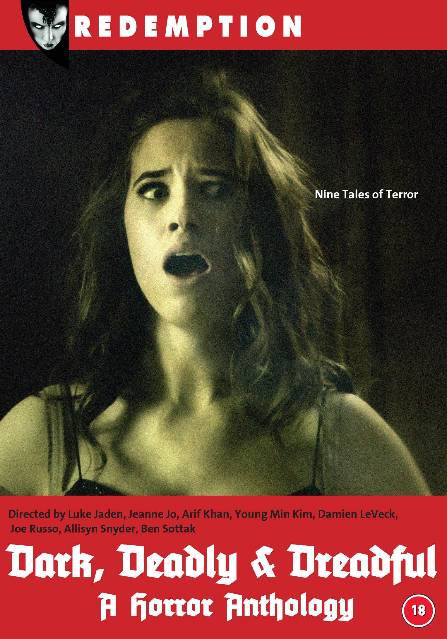 9 short horror fillms, each tackling a different sub genre of horror