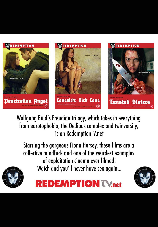 All three exploitation titles from Wolfgang Büld